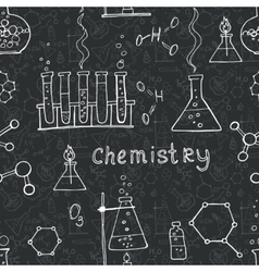 seamless science background vector image