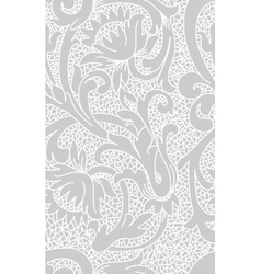 Seamless white floral lace pattern vector