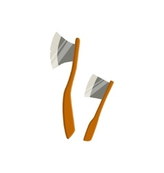 Two Axes For Chopping Wood Camping vector image