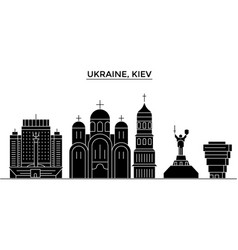 ukraine kiev architecture city skyline vector image