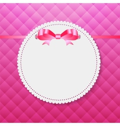 Vintage Frame with Bow Background vector image