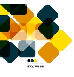 Warm modern color geometric abstract background vector image