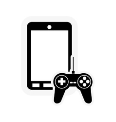 Cellphone and game controller icon vector