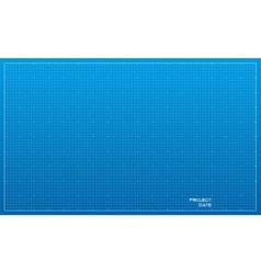 Wide blueprint background texture vector image