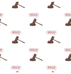 Auction hammer icon in cartoon style isolated on vector