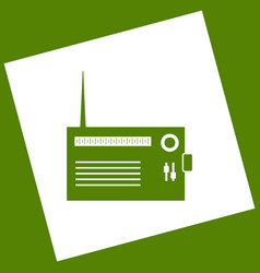 Radio sign   white icon vector
