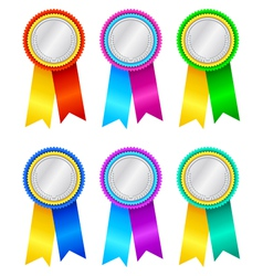 Winners rosettes vector image