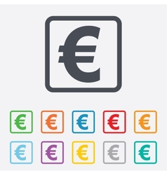 Euro sign icon eur currency symbol vector