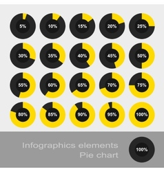 Circle diagram pie infographic elements vector