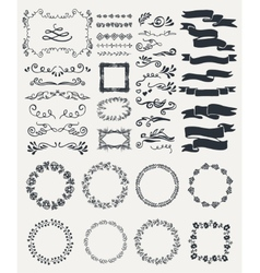 Hand-drawn elements vector