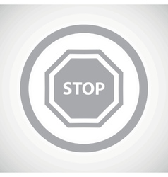 Grey stop sign icon vector