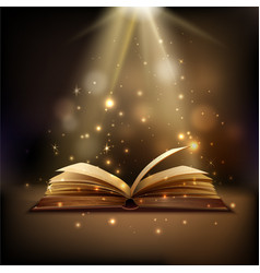 Magic book background vector