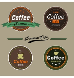 Coffee elementsbadge in vintage style vector