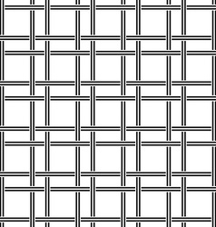 Black white seamless line pattern design vector