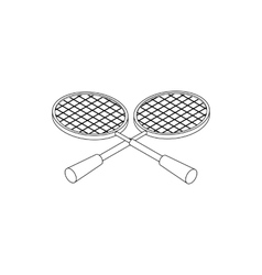 Tennis rackets icon isometric 3d style vector