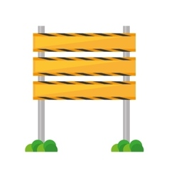 Barrier under construction road vector