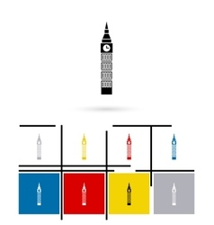 Big ben in london icon vector