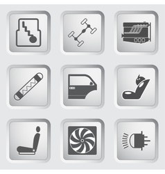 Car part and service icons set 3 vector