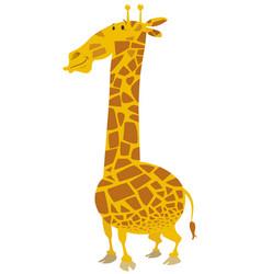Cartoon giraffe animal character vector