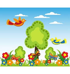 Cartoon landscape design vector image vector image