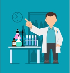 Character scientist doctor vector image vector image