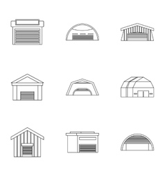 Garage icons set outline style vector image vector image