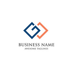gw letter logo design vector image vector image