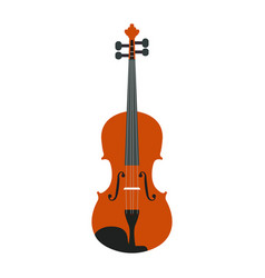 Isolated wooden violin vector