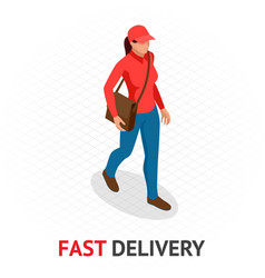 Isomeric fast and free delivery concept delivery vector