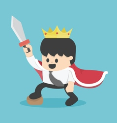King cartoon businessman vector