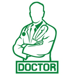 Medical doctor vector image vector image