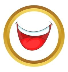 Mouth clown icon vector
