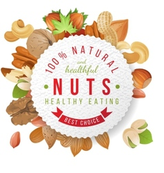 nuts label with type design vector image