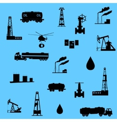 Oil and petroleum icon Seamless vector image vector image