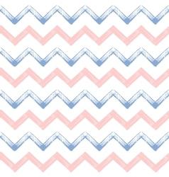 Rose quartz and serenity zigzag chevron grunge vector image vector image
