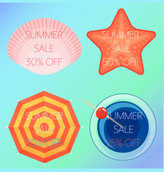 Set of of the summer sale vector