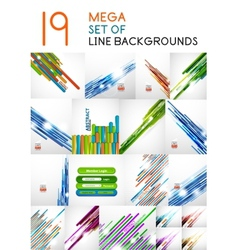 straight line backgrounds design collection vector image