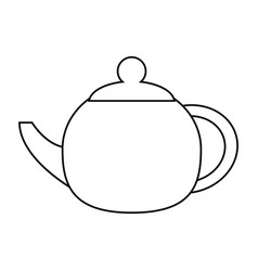 Teapot beverage ceramic outline vector