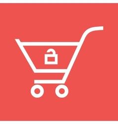 Unlock Cart vector image