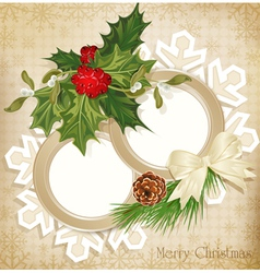 vintage retro christmas background vector image vector image