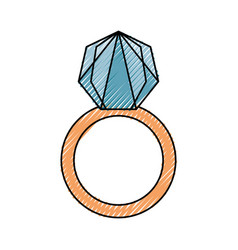 Wedding ring isolated vector