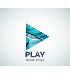 Play button logo business branding icon vector