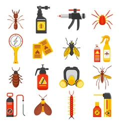 Pest control icons set vector