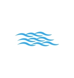 Quiet waves icon simple style vector