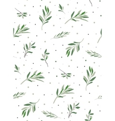 The pattern for the fabric with plants vector