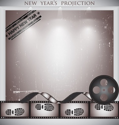 Cinema info panel background vector image