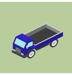 Freight car for transportation delivery isomet vector