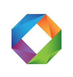 Colorful geometric logo vector image