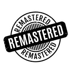 Remastered rubber stamp vector