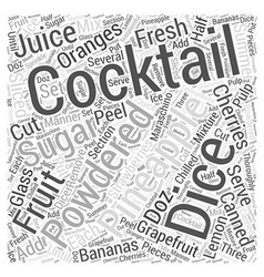 Fruit cocktails word cloud concept vector